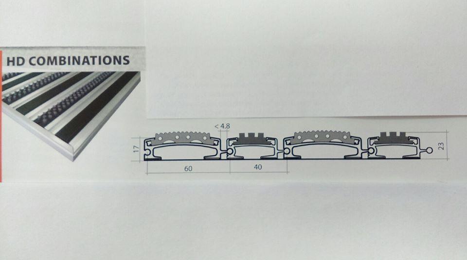 HD60 Rubber + HD40 Brush – комбинация на гумени вложки и четка